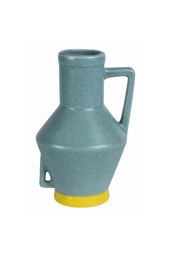 Vase With Handle Small Blauw