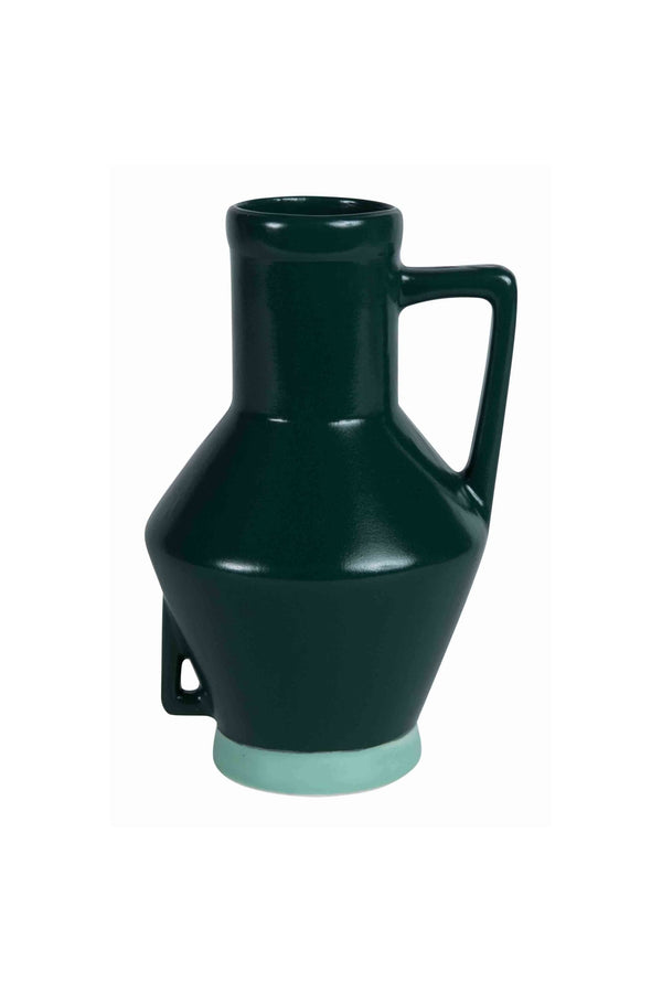 Vase With Handle Small Groen