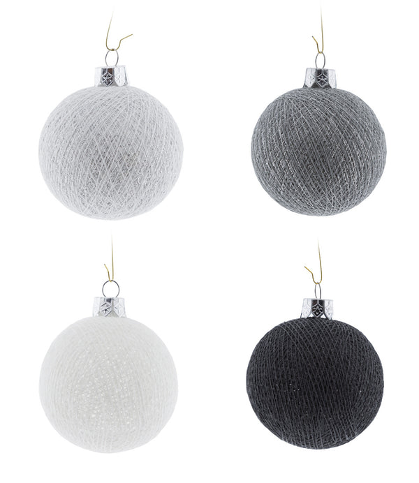 Kerstmis Cotton Balls | Silver Mix