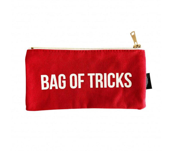 Canvas Bag Bag Of Tricks, Per 5 Pieces  Rood/roze 21 x 10 cm