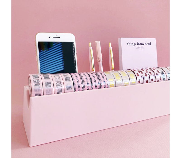 Desk Organizer Washi Pink,per 2 Pieces  Roze 32 x 10 x 7 cm