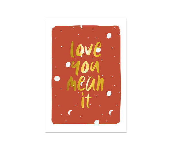 Greeting Card Love You Mean It, Per 5 Pieces