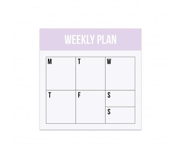 Mini Noteblock Weekly Plan, Per 5 Pieces