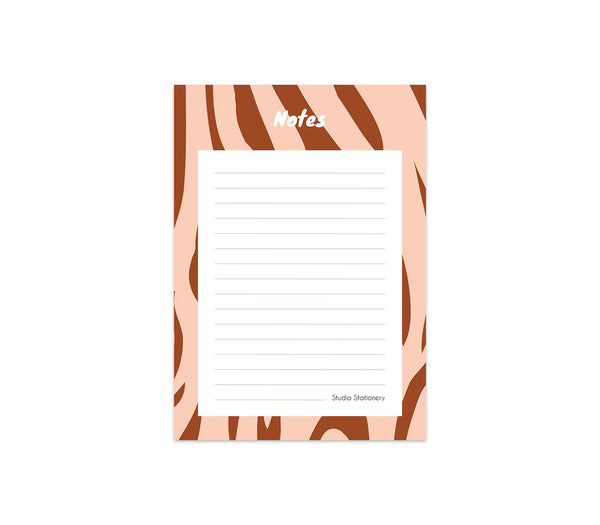 Noteblock Zebra Blush, Per 6 Pieces