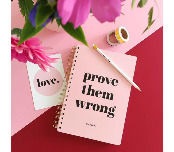 Notebook Prove Them Wrong, Per 3 Pieces