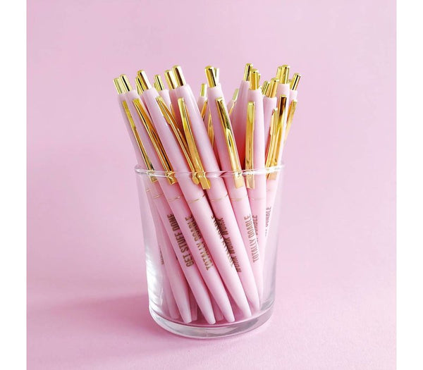 Pretty Pink Ballpen Set, Per 10 Pieces