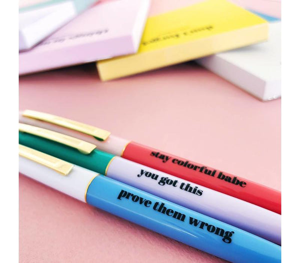 Stay Colorful Ballpen Set, Per 10 Pieces
