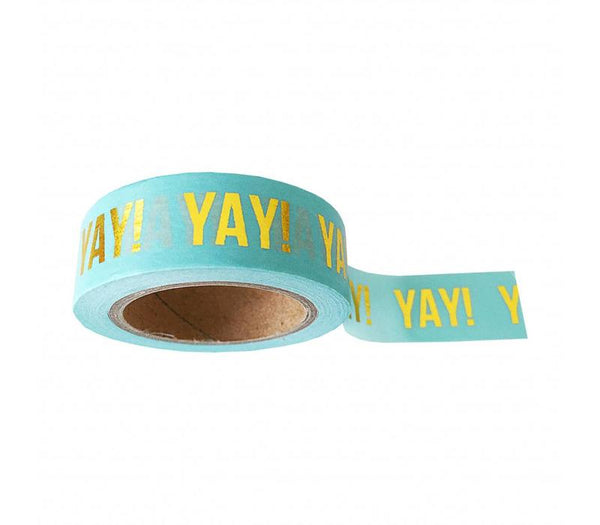 Washi Tape Mint Yay, Per 9 Pieces