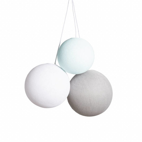 Triple Hanglamp | Set M: S (25 cm). M (31 cm). L (36 cm) | Sea Breeze