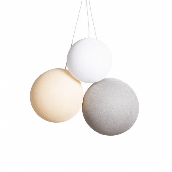 Triple Hanglamp | Set M: S (25 cm). M (31 cm). L (36 cm) | Natural Colors