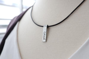 Hand Stamped Word Necklaces