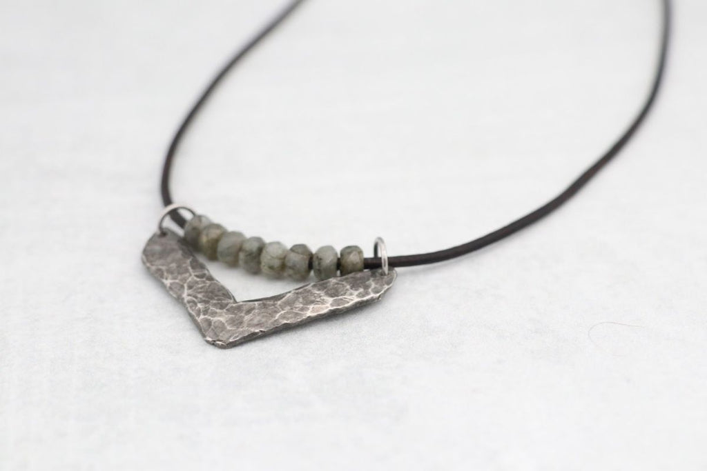 Cast Pewter Chevron w/ Labradorite
