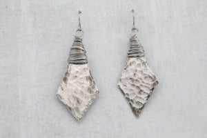 Artisan Wire Wrapped Pewter Earrings