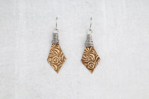 Unique Bronze Wire Wrapped Earrings