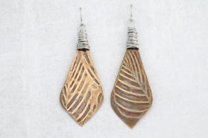 Leaves of Bronze Earrings