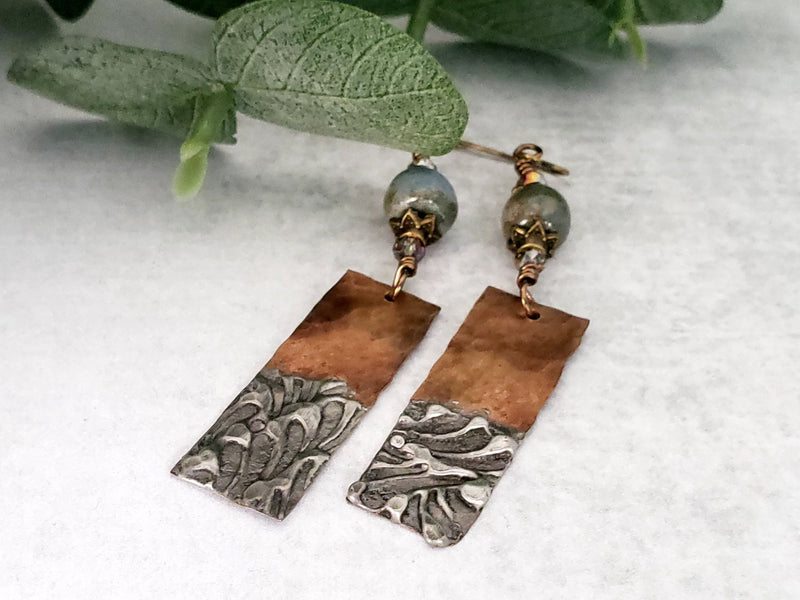 Stamped Soldered Earrings (1)