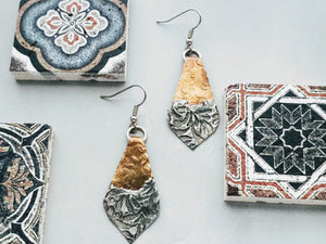 Stamped Soldered Earrings (2)