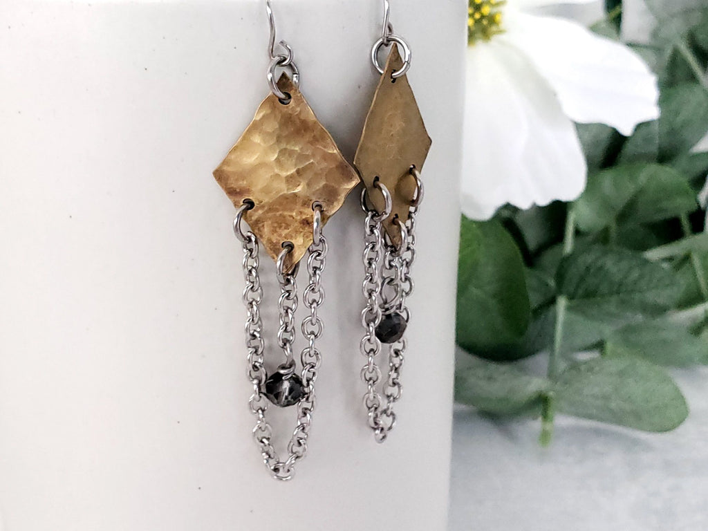 Chained Bronze Earrings