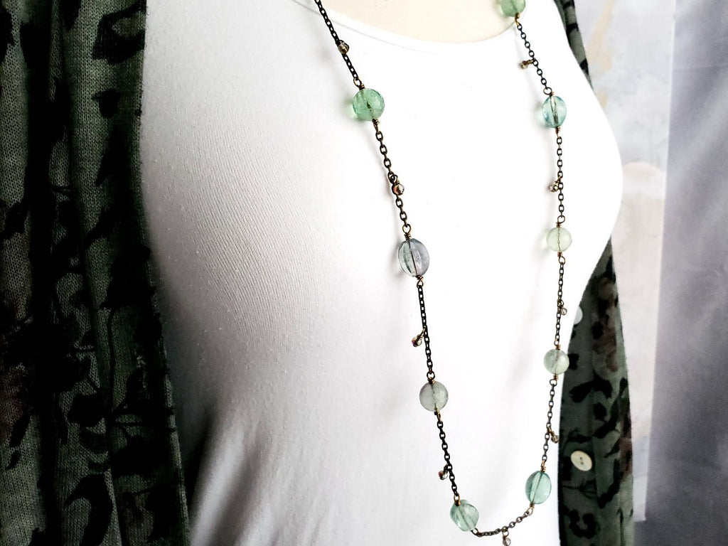 Light Blue Green & Soft Green Flourite Beauty