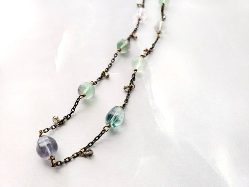 Blue Green & Soft Green Flourite Beauty