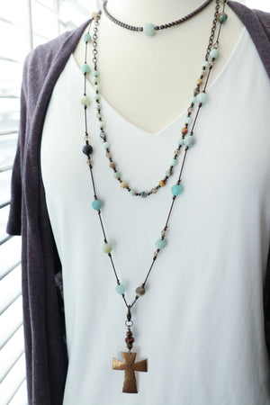 Listing is for Amazonite Necklace only. Other pieces sold separately.
