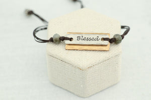 Bronze Pewter Word Bracelet