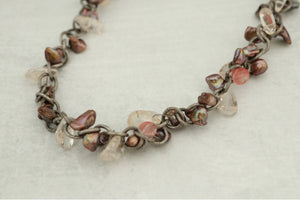 Unique Pearl & Stone Necklace (One of a Kind)