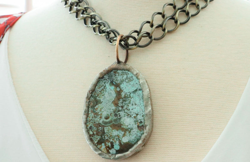 One Of A Kind Interchangeable Soldered Jasper Pendant/1