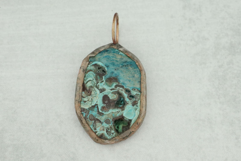 One Of A Kind Interchangeable Soldered Jasper Pendant/2  (Handknotted crystals & chain sold separately)