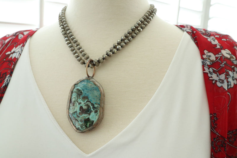 One Of A Kind Interchangeable Soldered Jasper Pendant/2