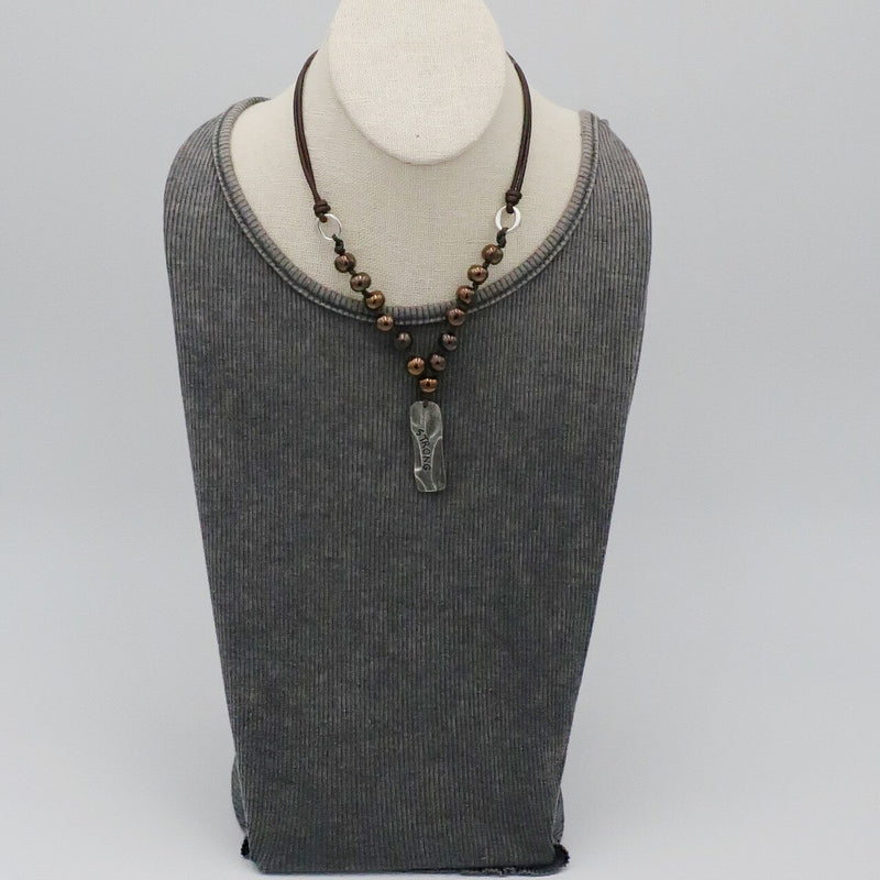 Pewter Tree - Strong (Dark Bronze Beads)