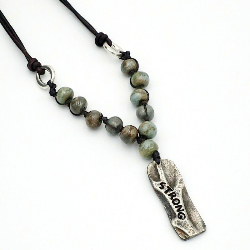 Pewter Tree - Strong (Sea Moss Beads)