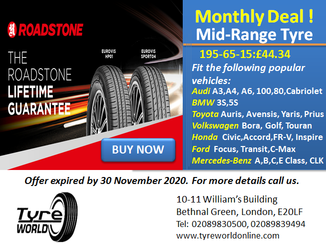 Mid-range tyre deal for 195-65-15