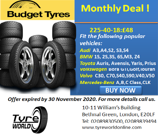 Budget Tyre Deal for 225-40-18