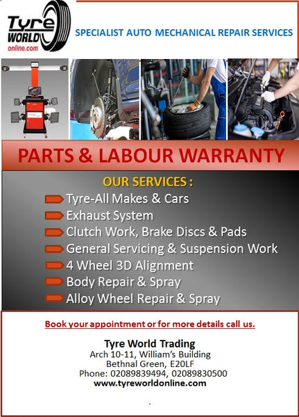 Tyreworldonline Parts and Labour Services