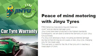 We have a new range of Low Budget to Medium tyres called JINYU from China. Their competition is Michelin at this range and these tyres come with a warranty