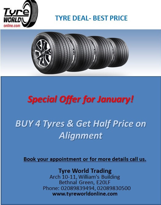Special Offers on Tyres at tyreworldonline