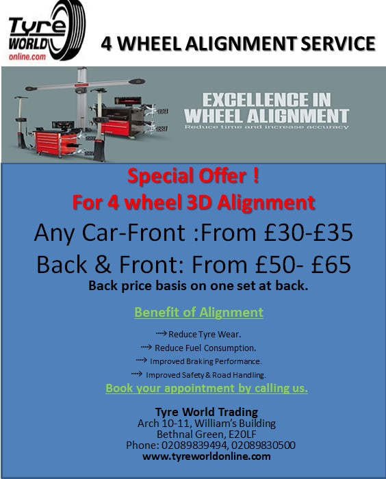 Special Offers on wheel alignment at tryreworldonline
