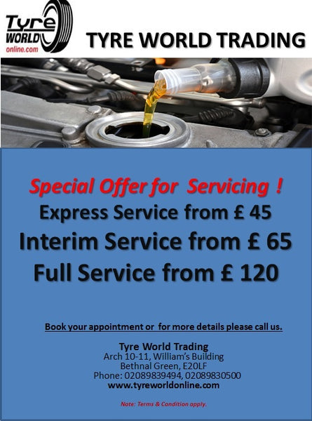 Special Offers on servicing your vehicle at tyreworldonline