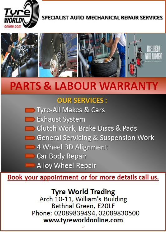General Vehicle Services available at tyreworldonline