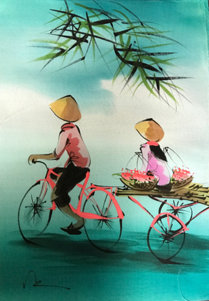Untitled Vietnamese Painting on Silk