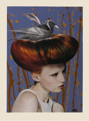 Nest-Head - A4 Limited Edition Print by Janine Wing.