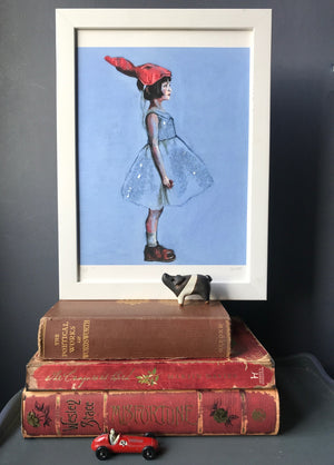 """Behind the Mask"" - Hand Embellished Limited Edition Print of 10 by Flo Lee & Co"