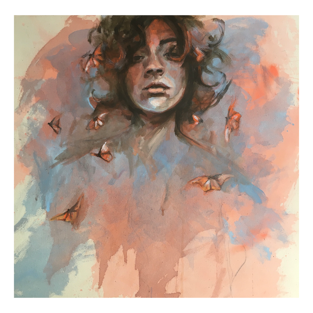 """Butterfly Thoughts"" - Contemporary Original Painting by Flo Lee & Co"
