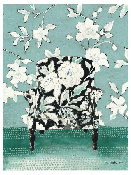 """Chair in Bloom"" Fine Art Giclée print - by Jojo Bedell"