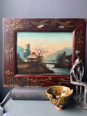 Framed Vintage Oil Painting on wooden panel - by Unknown Artist