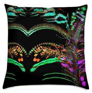 """The Glory of the Garden"" Velvet Cushion - by Francesca Skelhorn"