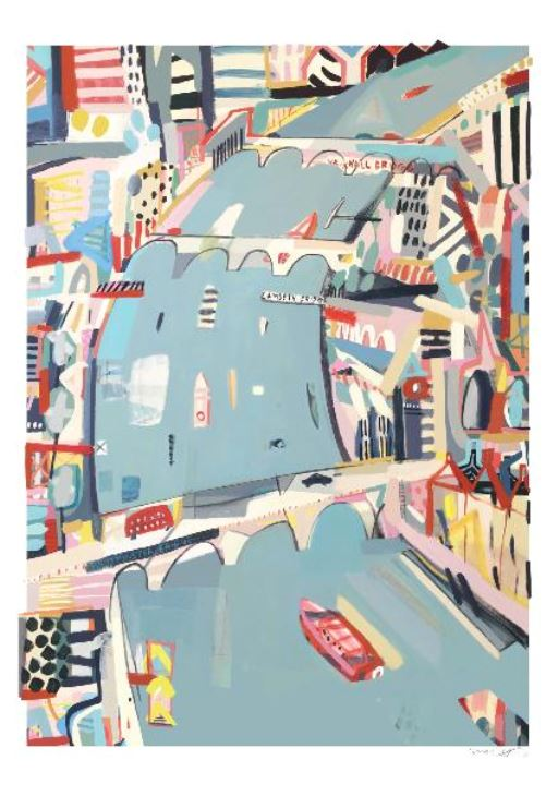 'The Thames' - Print by Anna Hymas