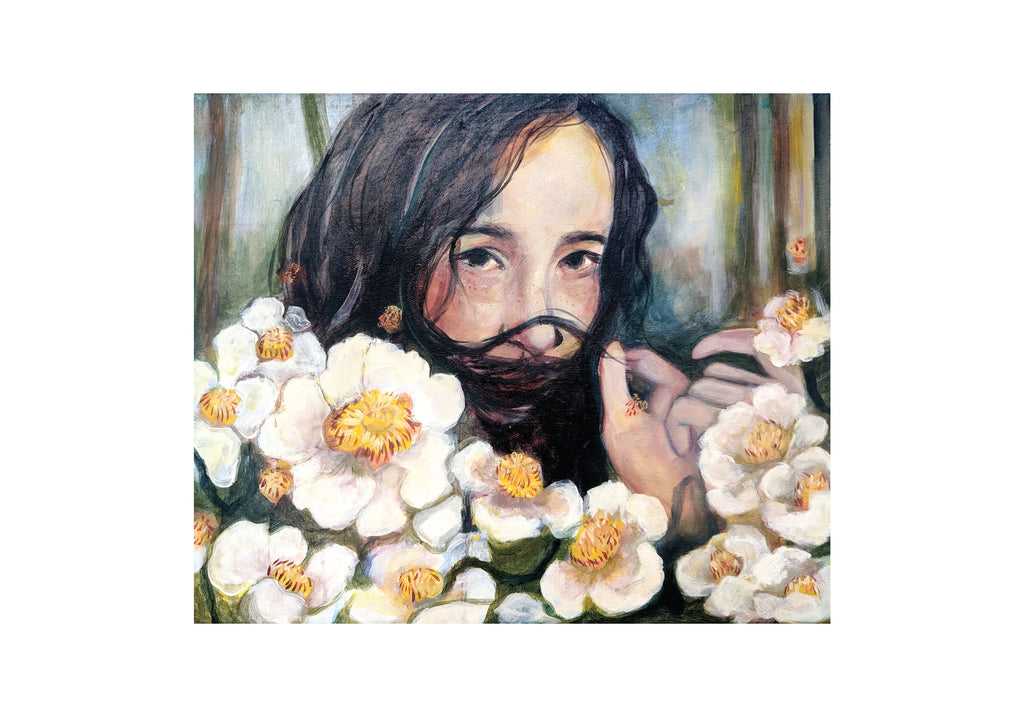 Oneoffto25.com But I have infinite tenderness for you Print by Janet Stocker. Floral artwork. Female artwork.