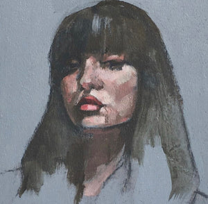 Mini portrait - Contemporary Original Painting by Flo Lee & Co